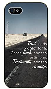 iPhone 5 / 5s Great faith leads to testimony. Testimony leads to eternity - Black plastic case / Inspirational and motivational life quotes / SURELOCK AUTHENTIC