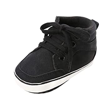 Unisex Baby Boys Girls High Top Sneaker Soft Solid Color Anti-Slip Sole Newborn Infant First Walkers Shoes 0-18 Months