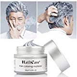 HailiCare Silver Grey Hair Wax 4.23 oz, Professional Hair Pomades, Natural Silver Ash Matte Hairstyle Max for Men Women (Silver Grey)
