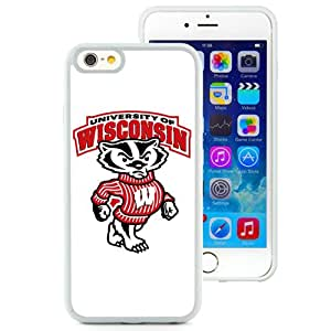 Fashion Custom Designed Cover Case For iPhone 6 4.7 Inch TPU Phone Case With Ncaa Big Ten Conference Football Wisconsin Badgers 3 Protective Cell Phone TPU Cover Case for Iphone 6 Generation 4.7 Inch White