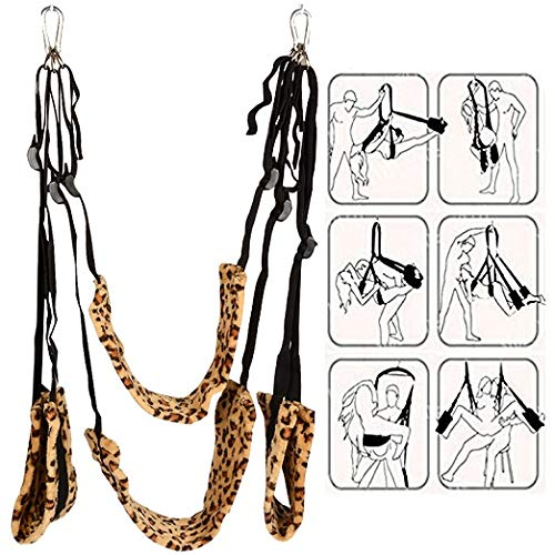 - Anquer 360 Degree Spinning Indoor Swing Light & Powerful Hanging on Swing Toys for Couples Pleasure Leopard A-02