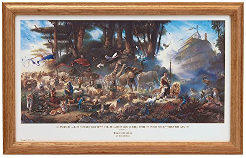 Tom duBois THE INVITATION Hand Signed by the Artist FRAMED Noah's Ark - Signed Framed Artist