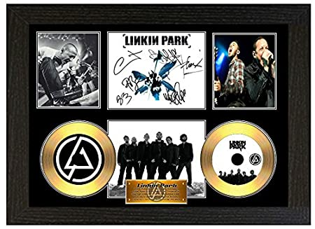 Linkin Park Signed Framed Poster Display Disc CD Collectors Picture