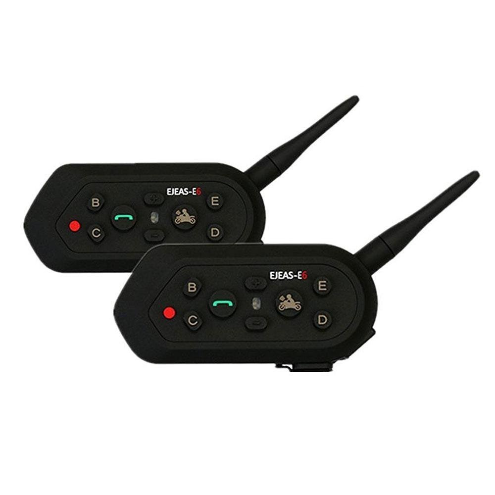 Toprui E6 BT Bluetooth Intercom 1200m Range 6 Drivers Full-Duplex Call Waterproof Wireless Motorcycle Helmet Intercom Headset And Walkie-Talkie Sports Ski Climbing(2 Pack )