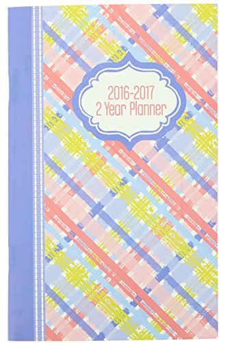 2016-2017 2 Year Monthly Planner - Pink Plaid