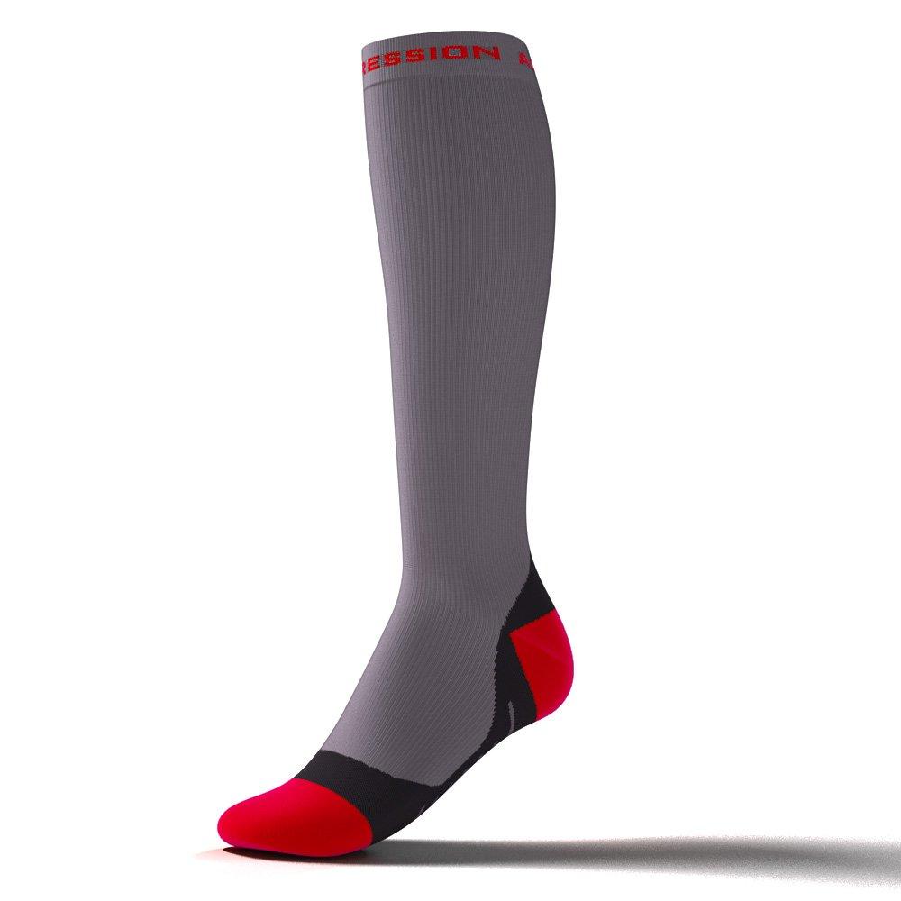 Active de Compression–Speed Performance Socks–Gris/Rouge