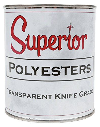 Resin Epoxy Polyester (Superior Stone Polyester Transparent Knife-Grade Adhesive (1 Quart) for Natural Stone Filling & Laminating)