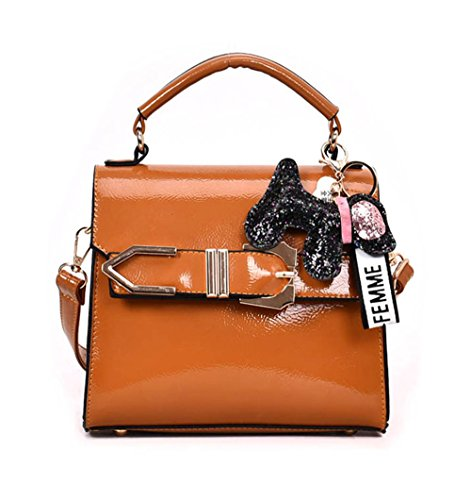 Bags Handle Brown Body Leather Shoulder Women's Cross Bags Handbags Faux Bags Top qnxZv7zw1
