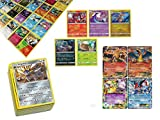 Pokemon TCG: 100 Card Lot Rare, Common, Unc, Holo with 2 Ex Cards