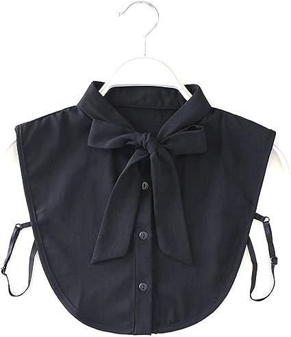 Xuebai Mujeres Nueva Camisa con Cuello de Lazo Cuello Falso ...