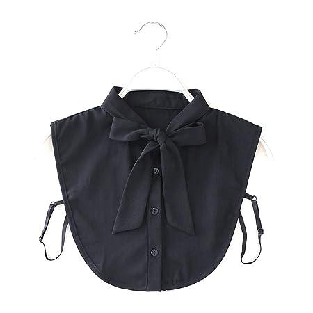 yifeict mujeres New bow cuello camisa falso cuello corbata Vintage ...