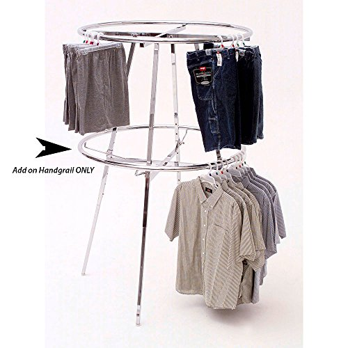 Round Garment Racks - Round Rack Add on Hangrail 42 Inch (D)