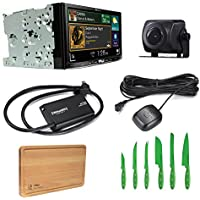 Pioneer Car Stereo AVIC-7200NEX Bluetooth DVD/CD with Pioneer ND-BC8 Universal Rear-View Camera, SiriusXM SXV300V1 Tuner and Free Free Ginsu Nuri Cutlery Set