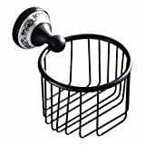 LAONA Continental antique black ? ceramic bathroom wall is set single double bar toilet paper holder Toilet brush, paper towel and basket