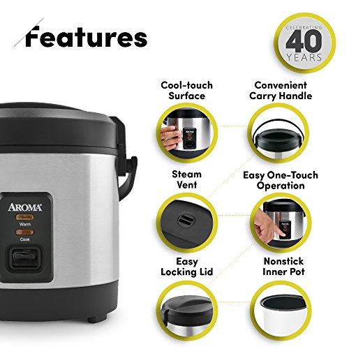 Aroma ARC-232 Multicooker, Black by Aroma (Image #2)