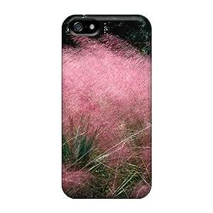 Zheng case[VDtTHSd2484nSmVG]premium Phone Case For Iphone 5/5s/ Pink Flowering Grass Tpu Case Cover