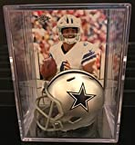 Dallas Cowboys NFL Helmet Shadowbox w/ Dak Prescott card