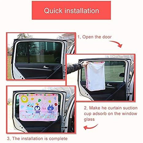 cortina con bolsillo de red parasol para coches, camiones y SUV Cortina ATpart para ventana de coche