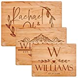 Personalized Cutting Board, 3 SIZES & 2 COLORS, Premium Flat Wood Deal (Small Image)