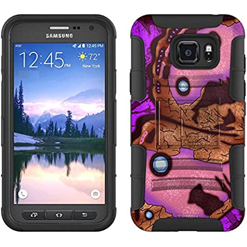 Samsung Galaxy S7 Active Armor Hybrid Case Butterfly Wing - Pink Brown 2 Piece Case with Holster for Samsung Galaxy Sales