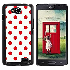 Paccase / SLIM PC / Aliminium Casa Carcasa Funda Case Cover - Red Design Polka Dot Pattern Clean - LG OPTIMUS L90 / D415