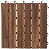 Garden Winds DT01-GY Six Slat Deck Tiles, Contemporary, 10 Count