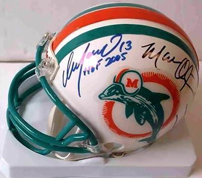 Dan Marino, Mark Clayton & Mark Duper Signed Dolphins Mini Helmet