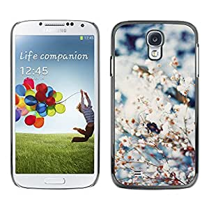 Paccase / SLIM PC / Aliminium Casa Carcasa Funda Case Cover para - Spring Snow Flowers Blooming Nature - Samsung Galaxy S4 I9500
