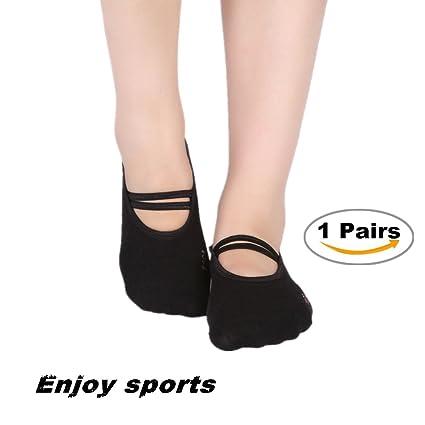 Calcetines De Yoga, Chickwin 1Pares Mujer Tamaño EU 35-40 Cómodo y Transpirable Algodón