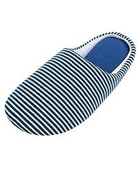 Urban CoCo Unisex Stripes Cotton House Slippers