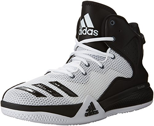 adidas Performance Men's DT Bball Mid Basketball Shoe, White/Black Light Onix adidas Performance Child Code (Shoes)