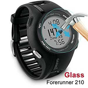 AWINNER Glass For Garmin Approach S1, Premium Glass Film 0.2mm Real Tempered Glass Screen Protector for Garmin Approach S1, Forerunner 110, and Forerunner 210 (9H) Free Lifetime Replacement Warranty