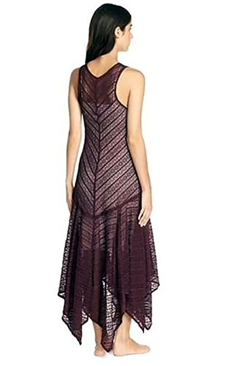 Amazon.com: Free People Womens Lila Asymmetrical Sheer Lace Slip Dress (XS, Eggplant): Clothing