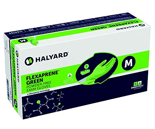 Flexaprene Green Chloroprene Powder Free Exam Gloves 44795 by Halyard Health
