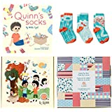 Perfect Gift for Baby, Toddler or Kid (2, 3, 4 year old). Quinn's Socks - Book and Matching Organic Cotton Kids Socks (Quinn's Sports, 2-4 Years)