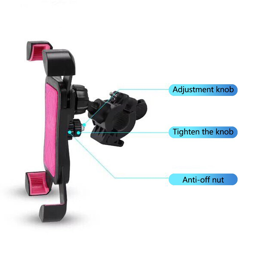 Universal Bike phone holder 360° Rotation GPS Bike Cell Phone Holder for Bicycle & Motorcycle Handlebars,Bike Phone Stand for iPhone X/8Plus/8/7/6/5S or any other Smartphones Black