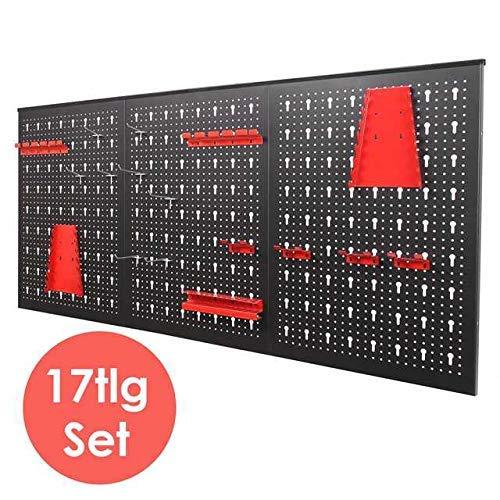 FIXKIT Panel para Herramientas de Metal 17 piezas, 120 x 60 cm, Organizador y Soporte para Pared de Multiusos, Tablero Perforado: Amazon.es: Bricolaje y ...