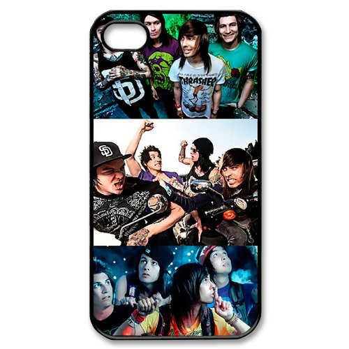 Fayruz- Pierce the Veil Protective Hard TPU Rubber Cover Case for iPhone 4 / 4S Phone Cases A-i4K133