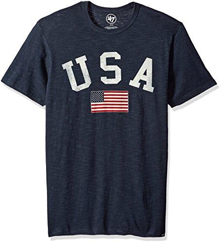 United States Men's '47 Vintage Scrum Tee, Navy Blue, X-Large (Scrum Vintage T-shirt)