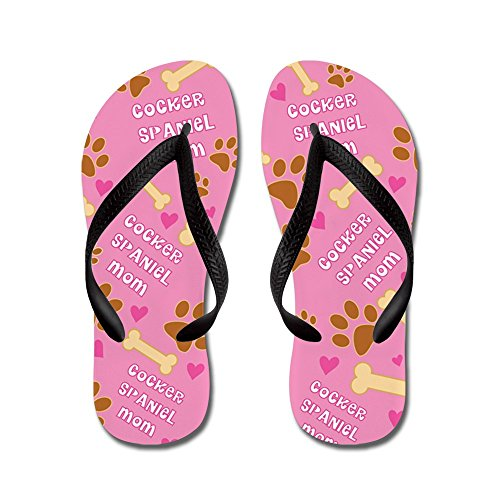 Cafepress Cocker-spaniël Moeder Cadeau - Flip Flops, Grappige String Sandalen, Strand Sandalen Zwart
