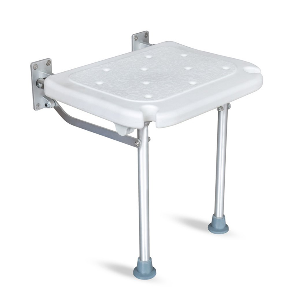 XIHAA Foldable Shower Stool, Tub Seat for Bathroom Safety and Shaving - Heavy Duty and Lightweight for Elderly,Pregnant Woman Child White