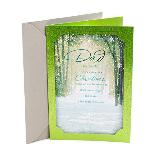 Hallmark Christmas Greeting Card for Dad (Winter Scene) (Card Scenes Christmas Winter)
