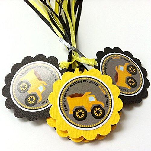 Construction Dump Truck Thank You Favor Tags - Birthday, used for sale  Delivered anywhere in USA