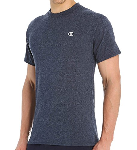 Champion Men's Jersey T-Shirt, Navy Heather, Small