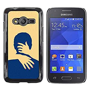Exotic-Star ( Yellow Love Minimalist Clean ) Fundas Cover Cubre Hard Case Cover para Samsung Galaxy Ace4 / Galaxy Ace 4 LTE / SM-G313F