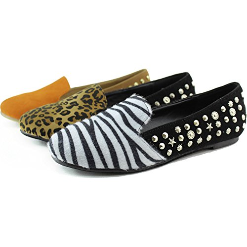 Women's Shoes Studded Animal Printed Spiked Leopard Sneakers Flat Fashion Comfortable 1qrw1R8Cx