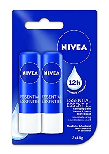 Nivea Essential Caring Lip Balm 12 Hour Moisture with Shea Butter and Panthenol