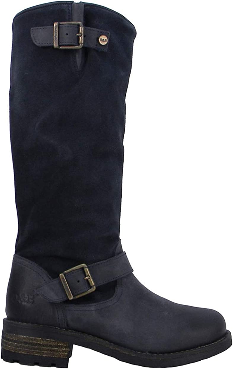 navy suede tall boots