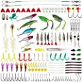 Lanforest Fishing Lures Kit, 234 PCS Artificial Bait Tackle Set Crankbait Minnow Topwater Frogs Hard Lures Jighead Spoonbait Shrimp Worms Hooks, for Bass Saltwater Freshwater