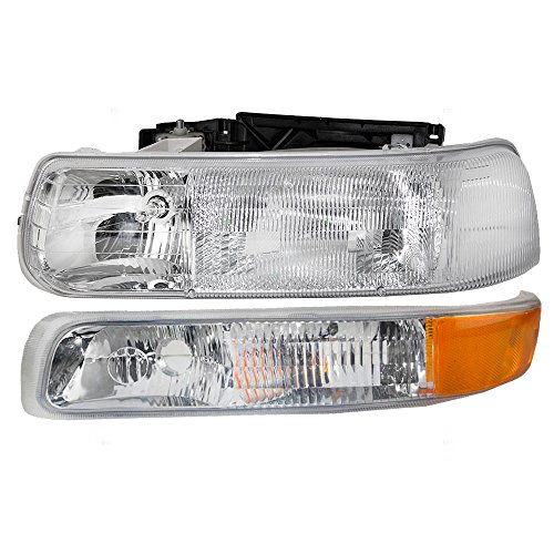 Driver Side Park Lamp - Drivers Headlight Headlamp with Park Signal Side Marker Light Replacement for Chevrolet Pickup Truck 16526133 15199558